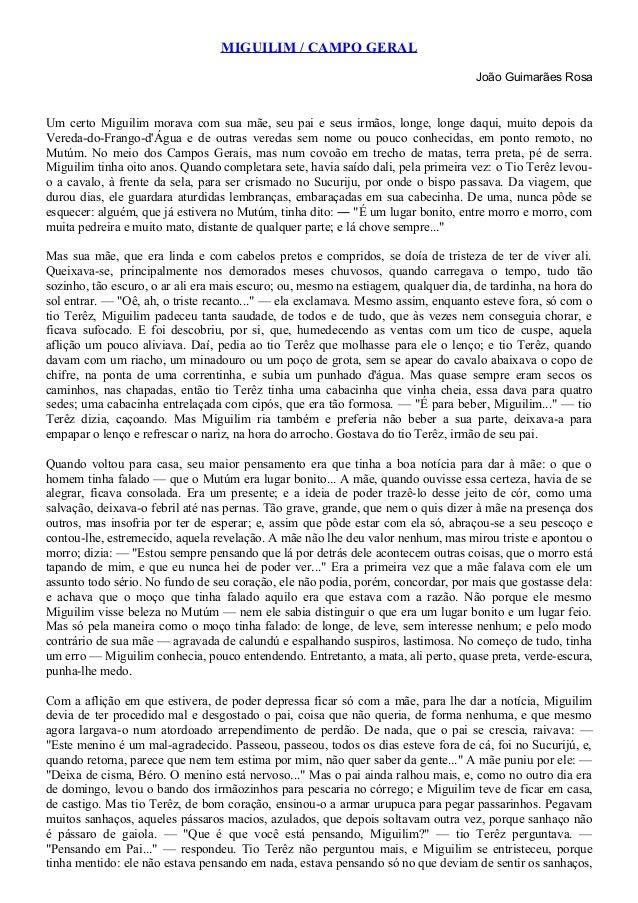 MIGUILIM / CAMPO GERAL                                                                                    João Guimarães R...