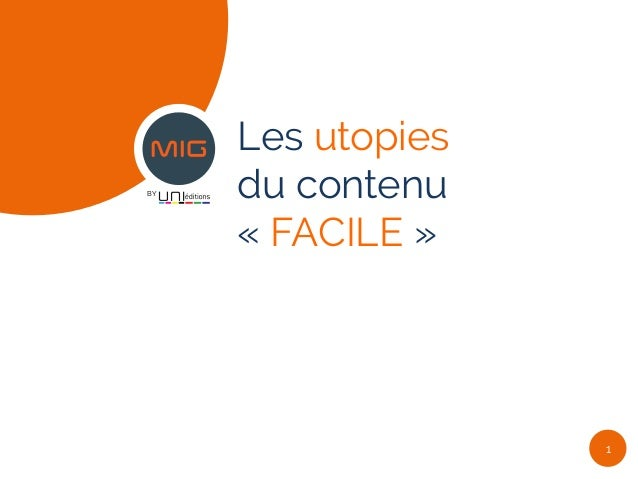 BY Les utopies du contenu « FACILE » 1