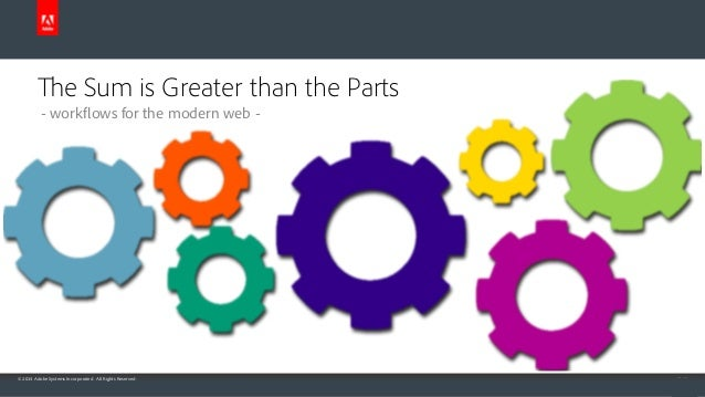 The Sum is Greater than the Parts - workflows for the modern web -  © 2014 Adobe Systems Incorporated. All Rights Reserved...
