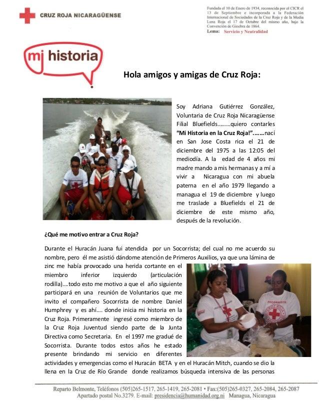 Mi historia en la cruz roja de adriana