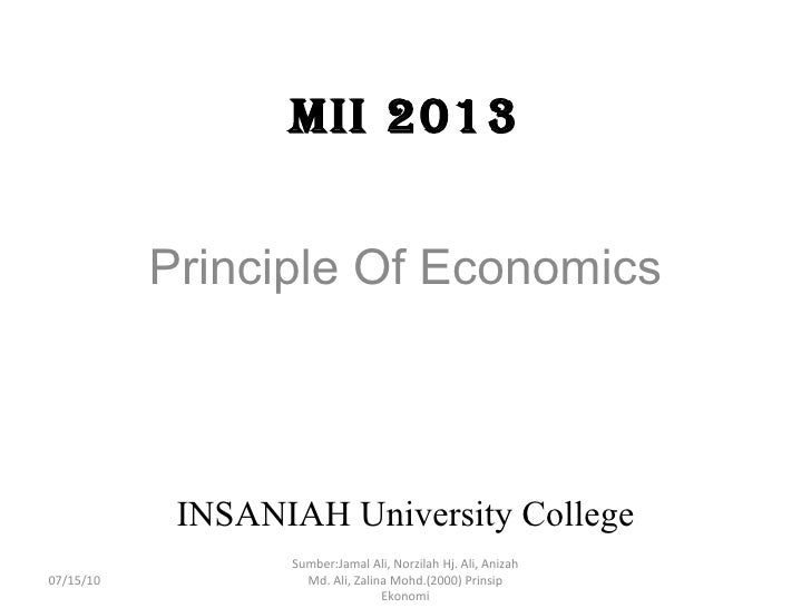 Mii 2013 principel of economics