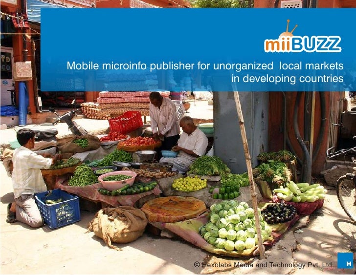 Mobile microinfo publisher for unorganized local markets