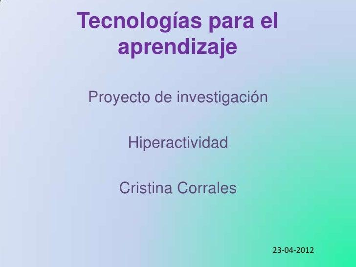 Mi investigación _ Hiperactividad