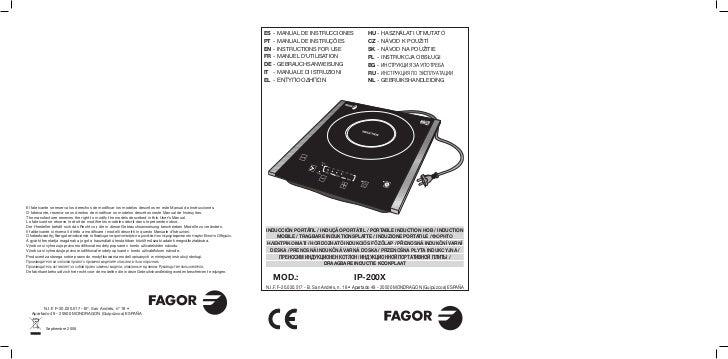 Mi ip 200 x - Servicio Técnico Fagor