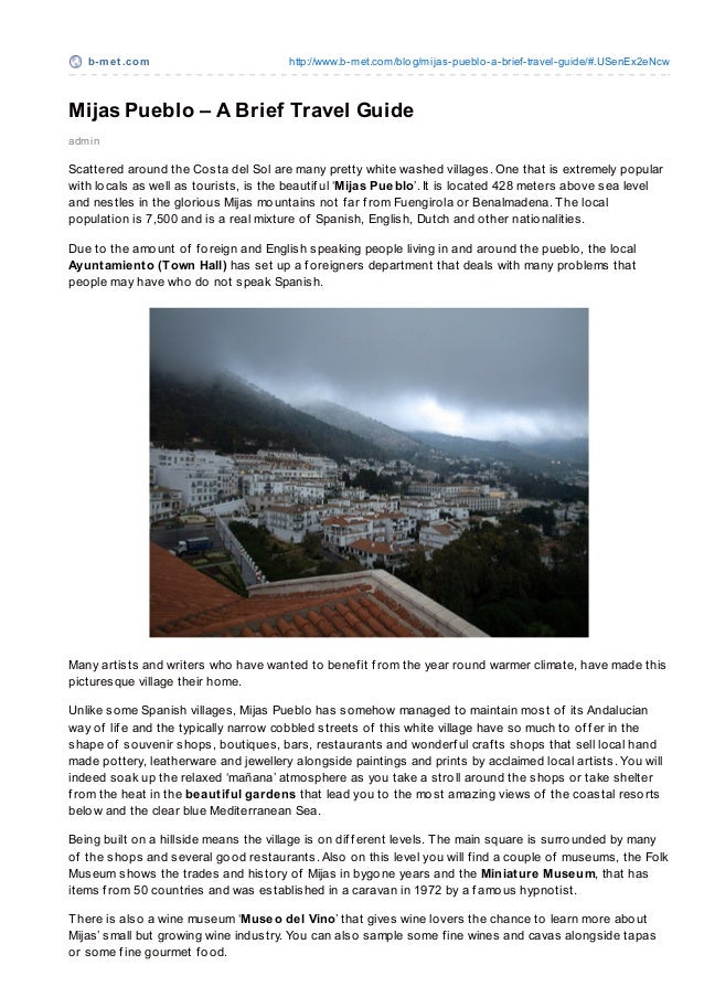 Mijas Pueblo – A Brief Travel Guide