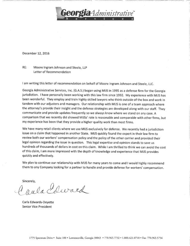 mijs letter of recommendation from georgia administrative