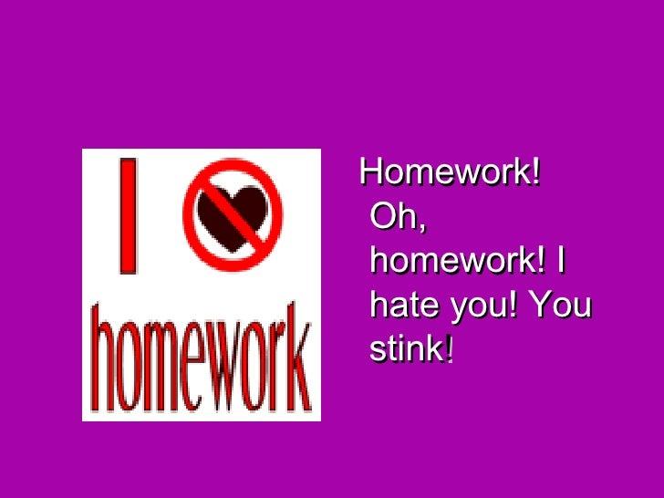 Jack prelutsky homework o homework
