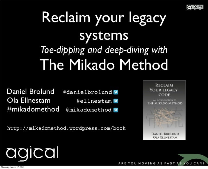 Reclaim your legacy                                 systems                           Toe-dipping and deep-diving with    ...