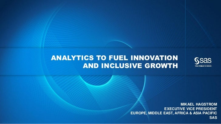 Analytics - Fueling innovation and inclusive growth