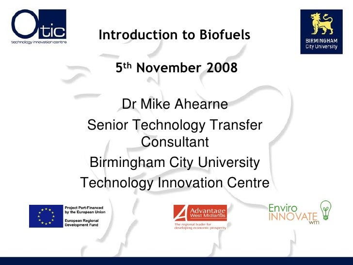 Mike Ahearne Biofuels For Transport And Chp