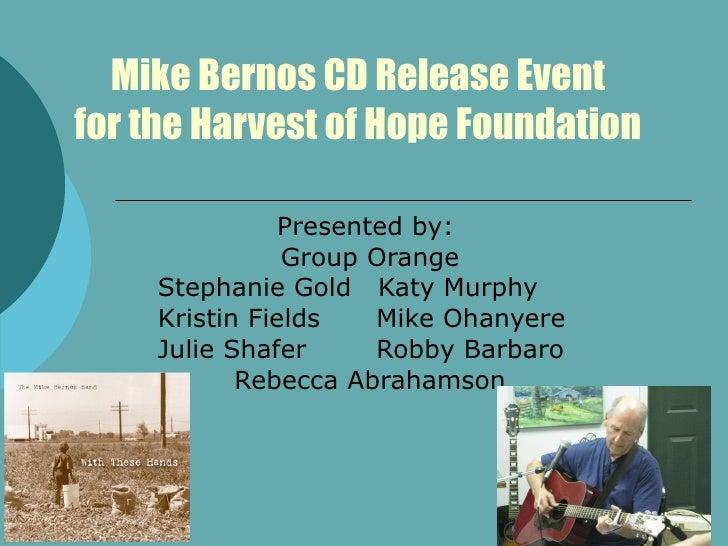 Mike Bernos Cd Release Event Older Version Comp