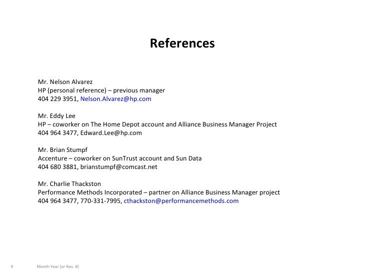 writing references on a resumes