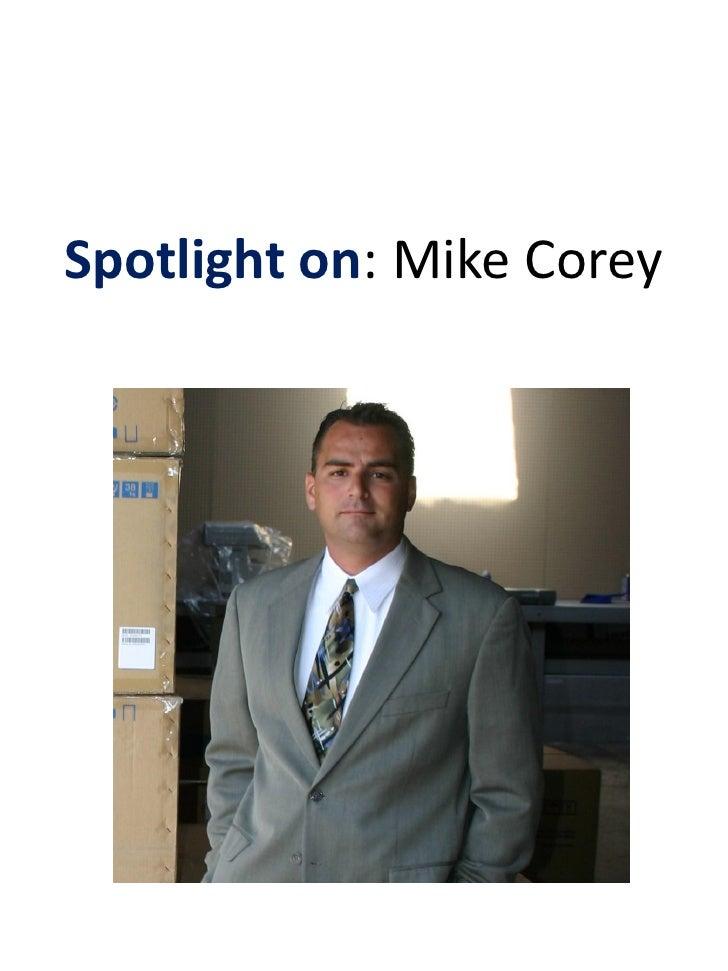 Spotlight on: Mike Corey