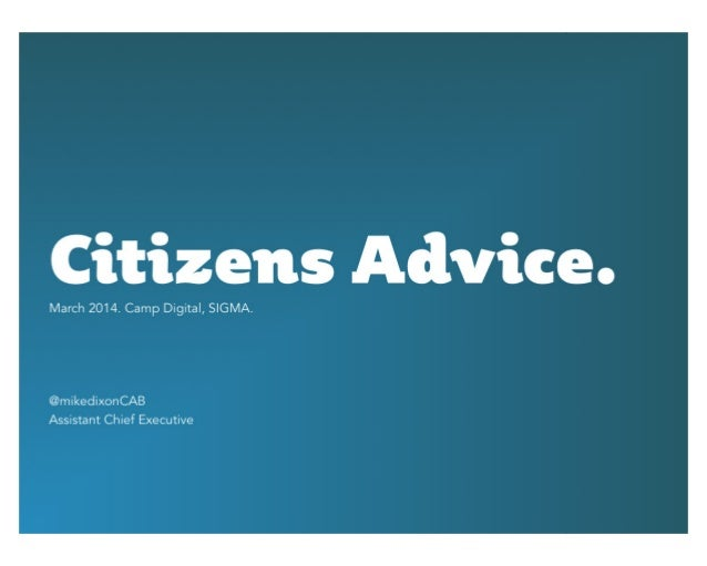 Realising an agile user-centred digital strategy for Citizens Advice