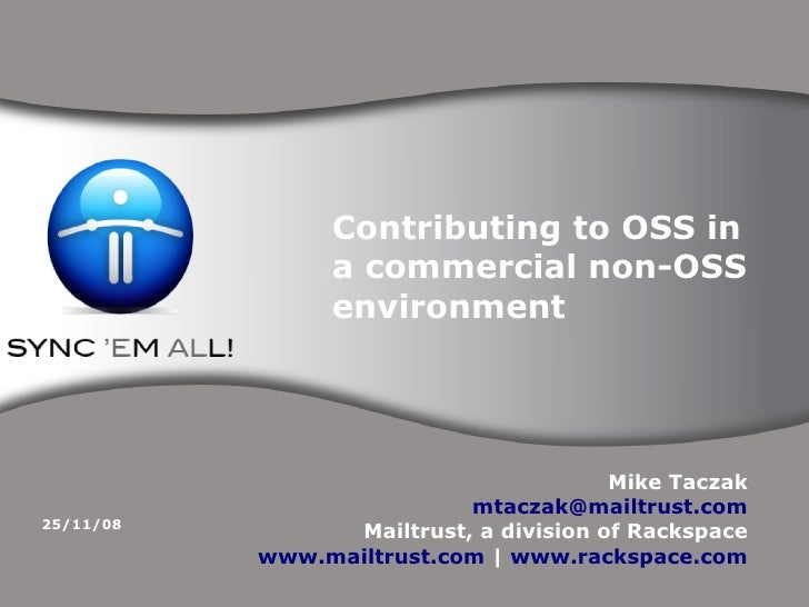 Contributing to OSS in                  a commercial non-OSS                  environment                                 ...