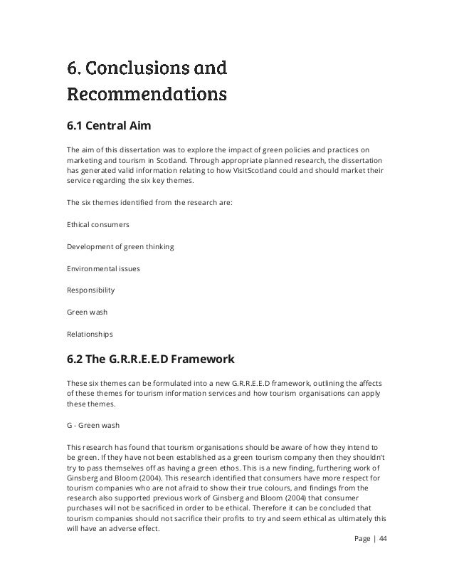 conclusions recommendations dissertation Findings, conclusions, and recommendations finding and conclusion : in recent years, the number of applications requiring plasmas in the processing of materials has increased dramatically plasma processing is now indispensable to the fabrication of electronic components and is widely used in the aerospace industry and other industries.