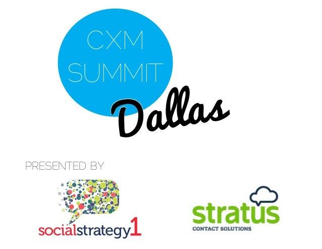 CXMSUMMIT - Mike Lewis - Social Media Leadership