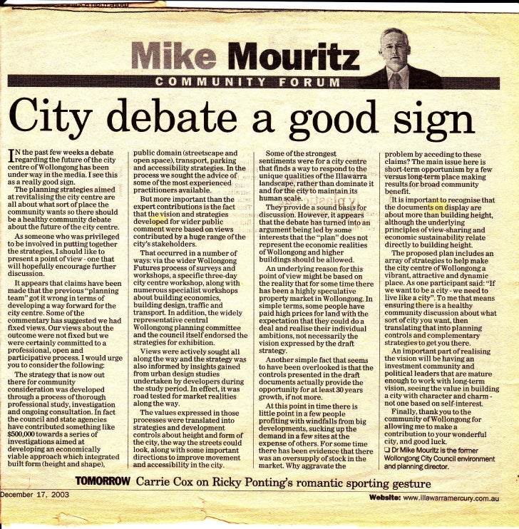 ffiffiMw llilouritxCity debate a good signTN the past few weeks a debate         public domain (streetscape and           ...