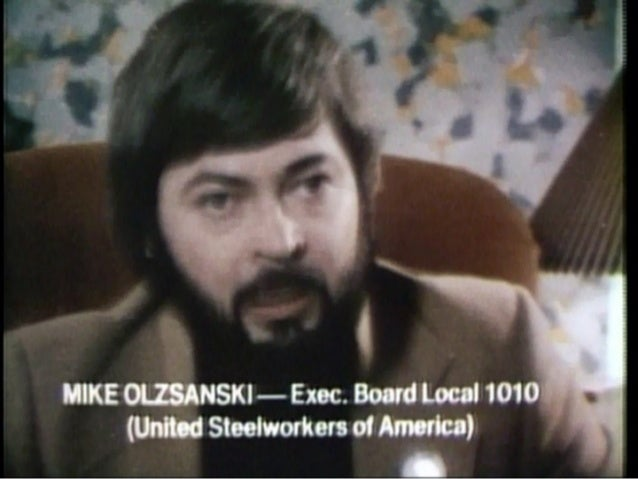 """Mike Olzsandki in """"America: from Hitler to MX"""" circa 1987"""