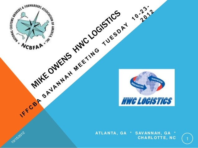 Mike Owens  Iffcba Meeting With Hwc Logistics 10 23 2012 Rev 2