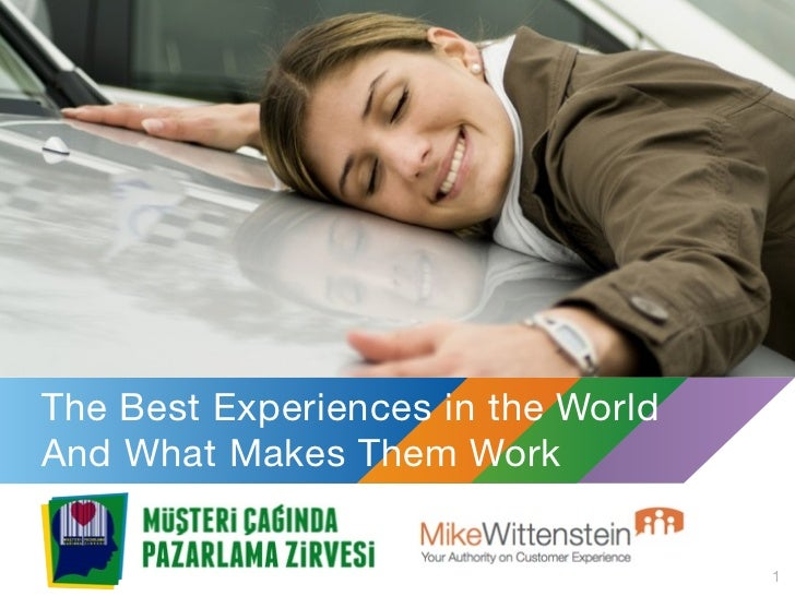 The Best Experiences in the WorldAnd What Makes Them Work                                    1