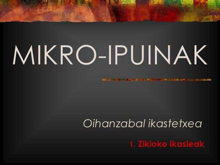MIKRO-IPUINAK    Oihanzabal ikastetxea            1. Zikloko ikasleak