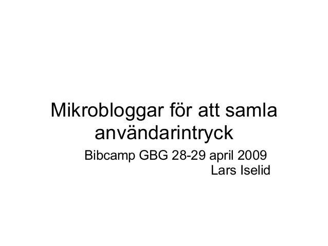 Mikrobloggarbibcampgbg2009