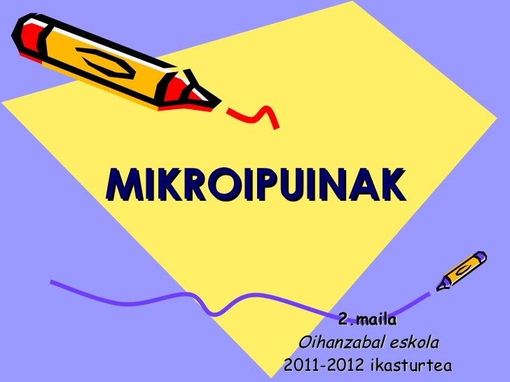 Mikroipuinak. blogerako