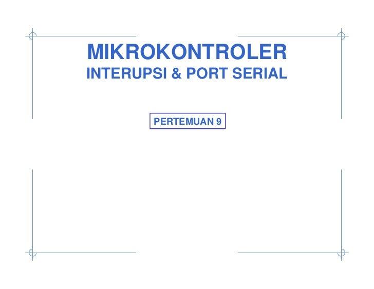 Mikrokontroler pertemuan 9