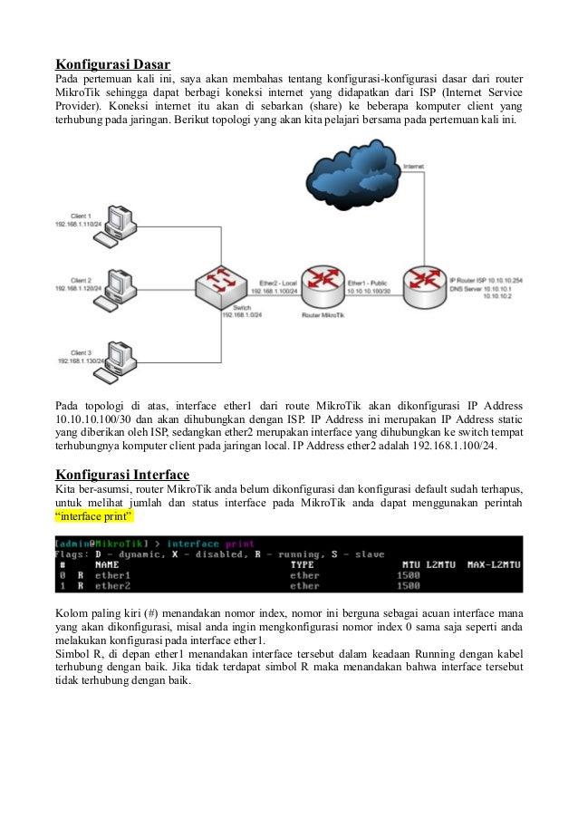 Konfigurasi DasarPada pertemuan kali ini, saya akan membahas tentang konfigurasi-konfigurasi dasar dari routerMikroTik seh...