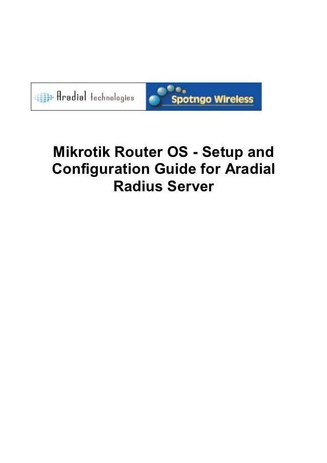 Mikrotik aradial-configuration-guide