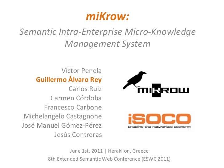 miKrow presentation at ESWC2011