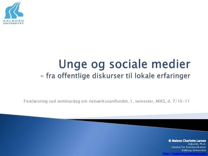 Medieteknologi, kommunikation og samfund