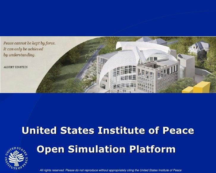 United States Institute of Peace Open Simulation Platform