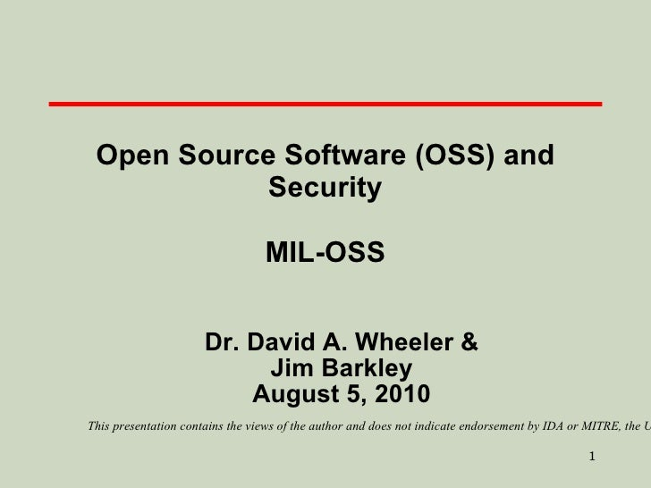Barcamp: Open Source and Security