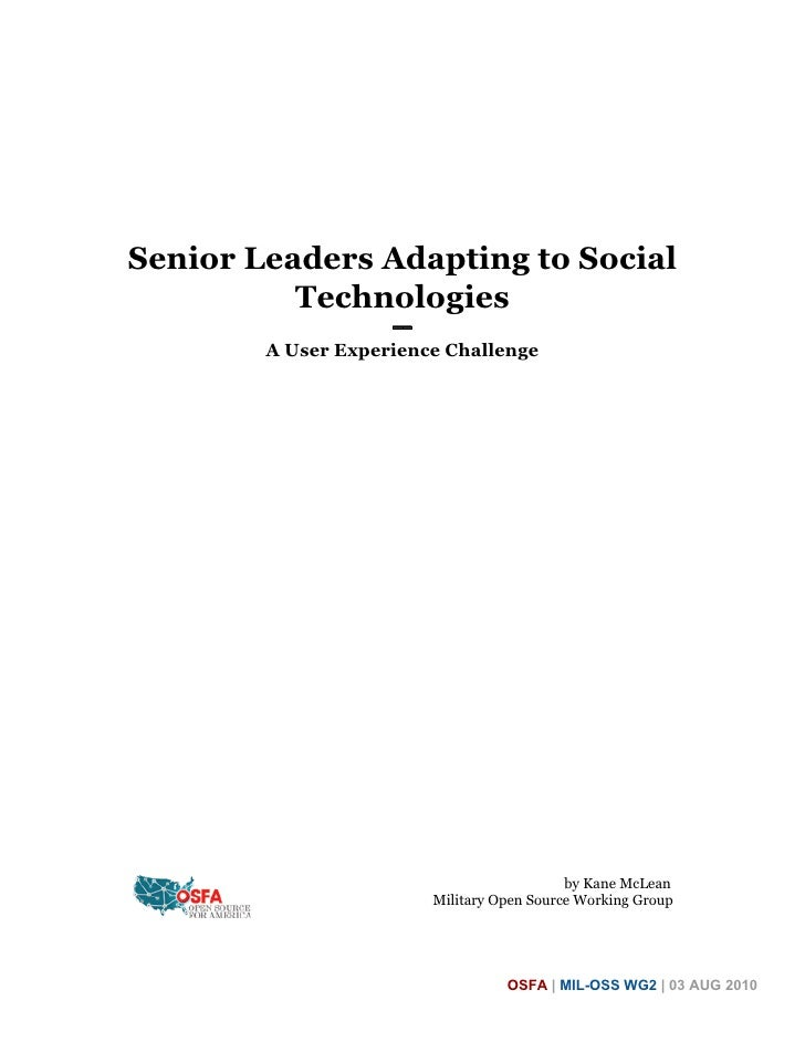 Senior Leaders Adapting to Social Technologies