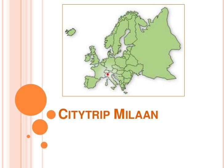 CITYTRIP MILAAN
