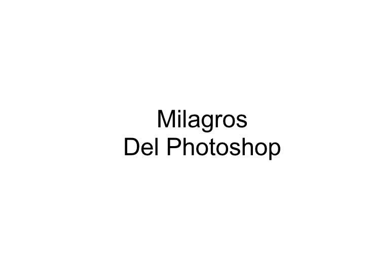 Milagrosdel Photoshop