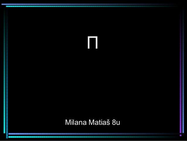 ΠMilana Matiaš 8u