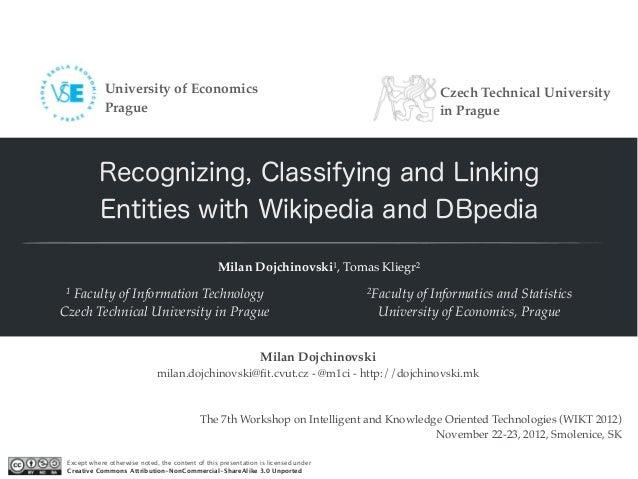 University of Economics                                                            Czech Technical University             ...