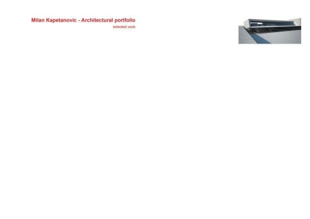 Milan Kapetanovic   Architectural Portfolio