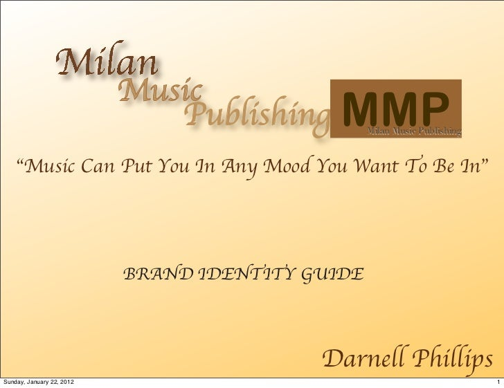 """Music                              Publishing     MMP  Milan Music Publishing    """"Music Can Put You In Any Mood You Want T..."""