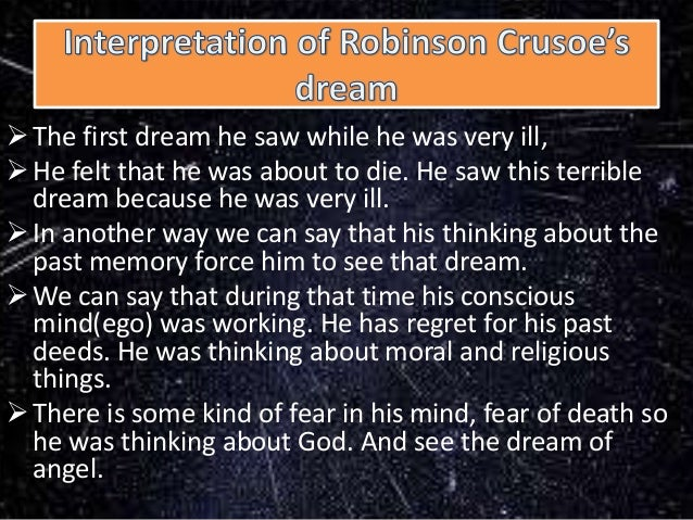 an analysis of the robinson crusoe Summary robinson crusoe, the narrator of the story summary and analysis chapter 1 bookmark this page manage my reading list summary.