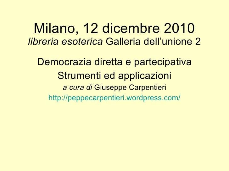 Milano 12 dicembre 2010