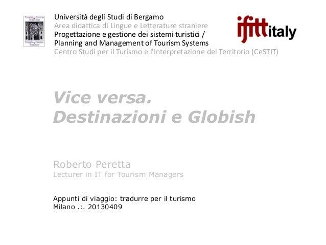 Tradurre per il turismo. AITI & IULM