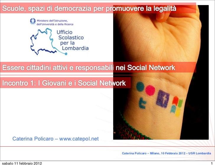 1     Caterina Policaro – www.catepol.net                                           Caterina Policaro – Milano, 10 Febbrai...