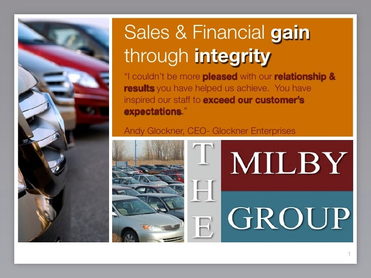 "Sales & Financial gain through integrity ""I couldn't be more pleased with our relationship & results you have helped us ac..."