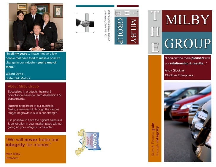 The Milby Group Tri-Fold