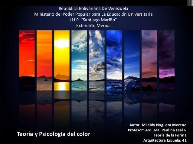 República Bolivariana De Venezuela Ministerio del Poder Popular para La Educación Universitaria I.U.P. ''Santiago Mariño''...