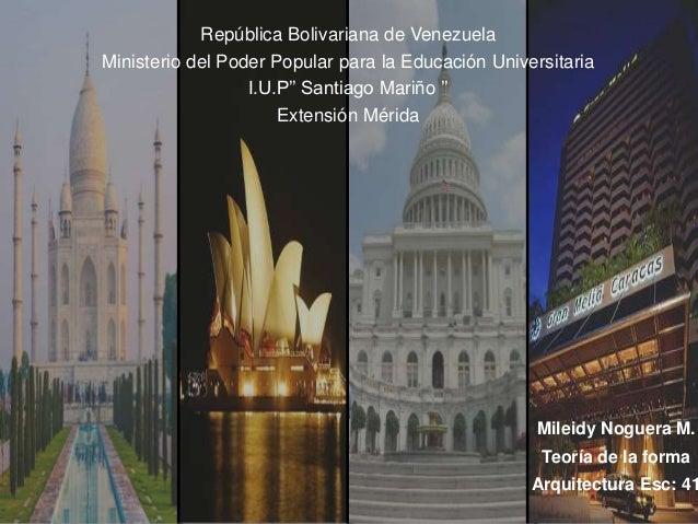 República Bolivariana de Venezuela Ministerio del Poder Popular para la Educación Universitaria I.U.P'' Santiago Mariño ''...